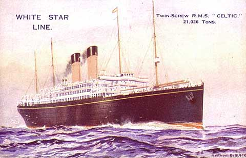 White Star Line Shipping RMS Cedric